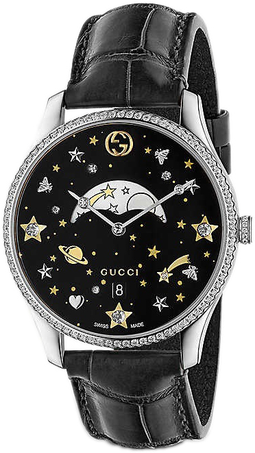 Gucci G-Timeless YA1264103 Sort/Lær Ø36 mm - Gucci
