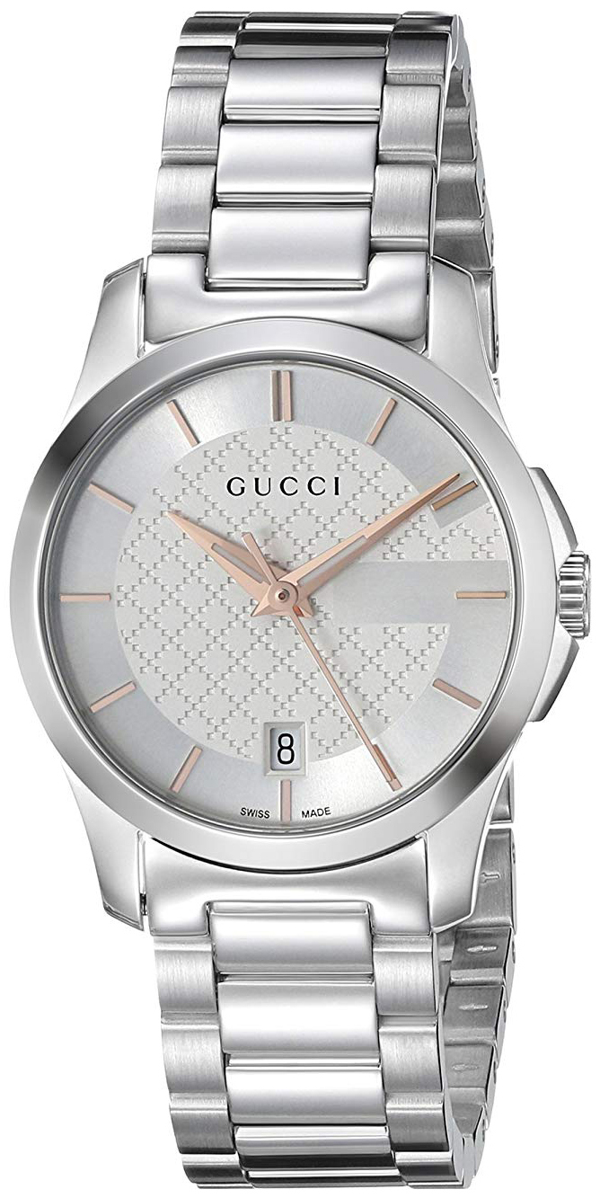 Gucci G-Timeless Dameklokke YA126523 Sølvfarget/Stål Ø27 mm - Gucci