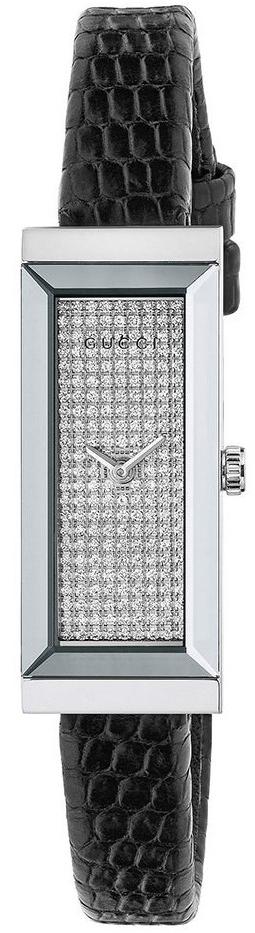 Gucci G- Frame Dameklokke YA127514 Diamantsmykket/Lær - Gucci