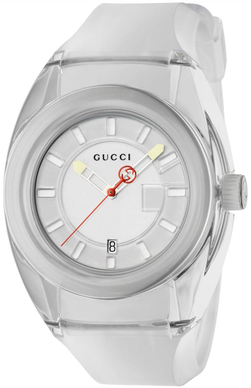 Gucci 99999 Herreklokke YA137110 Hvit/Gummi Ø46 mm - Gucci