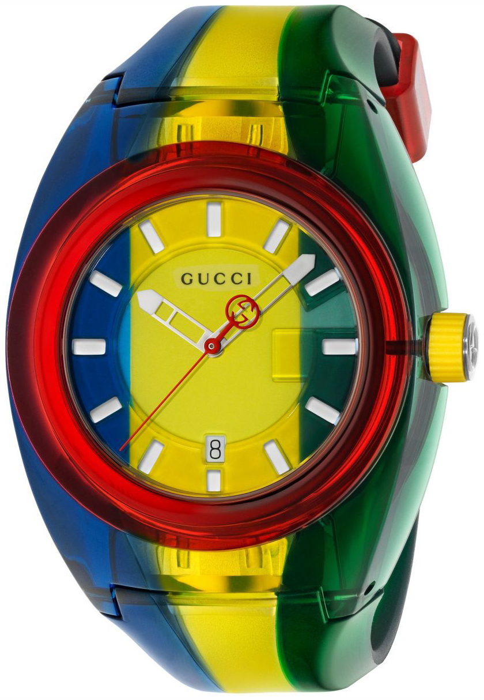 Gucci 99999 Herreklokke YA137114 Flerfarget/Gummi Ø46 mm - Gucci