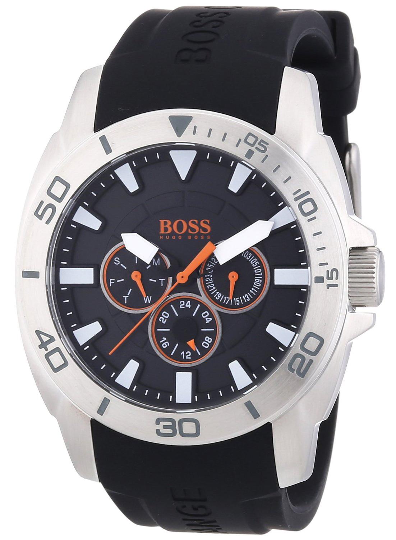 Hugo Boss 99999 Herreklokke 1512950 Sort/Gummi Ø45 mm - Hugo Boss