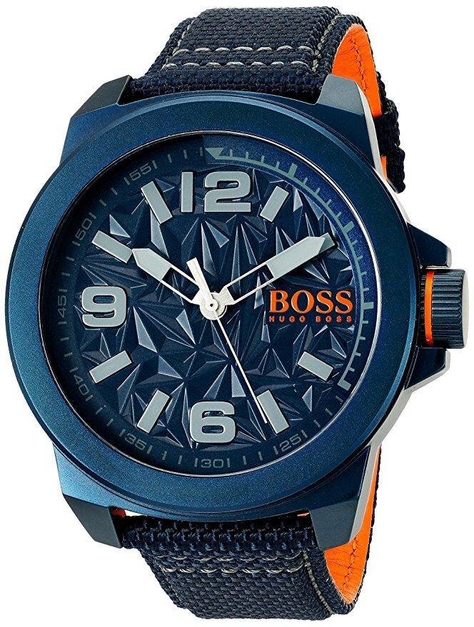 Hugo Boss New York Herreklokke 1513353 Blå/Lær Ø50 mm - Hugo Boss
