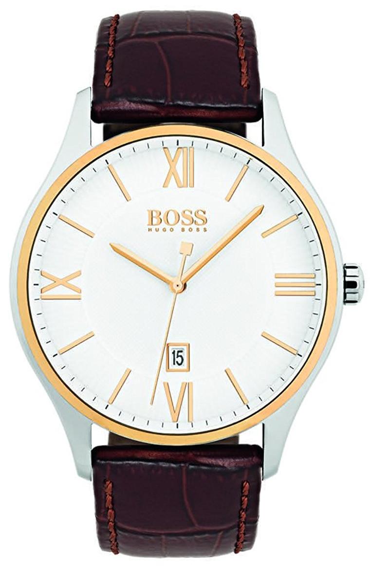 Hugo Boss 99999 Herreklokke 1513486 Hvit/Lær Ø44 mm - Hugo Boss