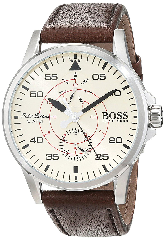Hugo Boss 99999 Herreklokke 1513516 Champagnefarget/Lær Ø44 mm - Hugo Boss