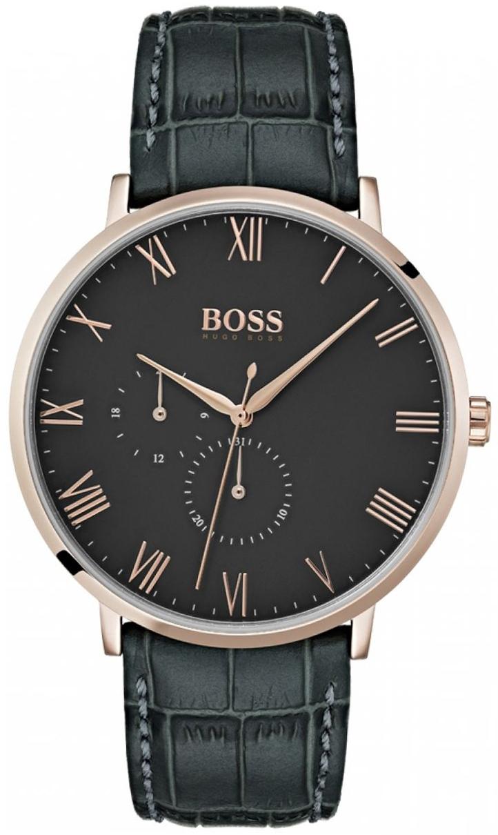 Hugo Boss 99999 Herreklokke 1513619 Grå/Lær Ø40 mm - Hugo Boss