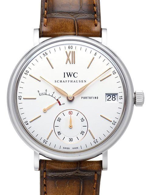 IWC Portofino Herreklokke IW510103 Hand-Wound 8 Days Hvit/Lær Ø45 mm - IWC