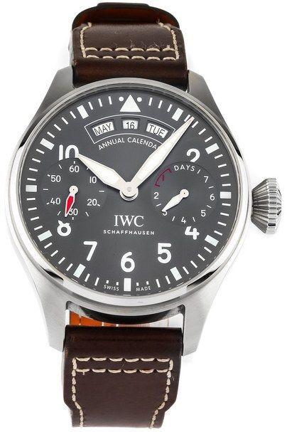 IWC Pilots Spitfire Herreklokke IW502702 Grå/Lær Ø46.2 mm - IWC