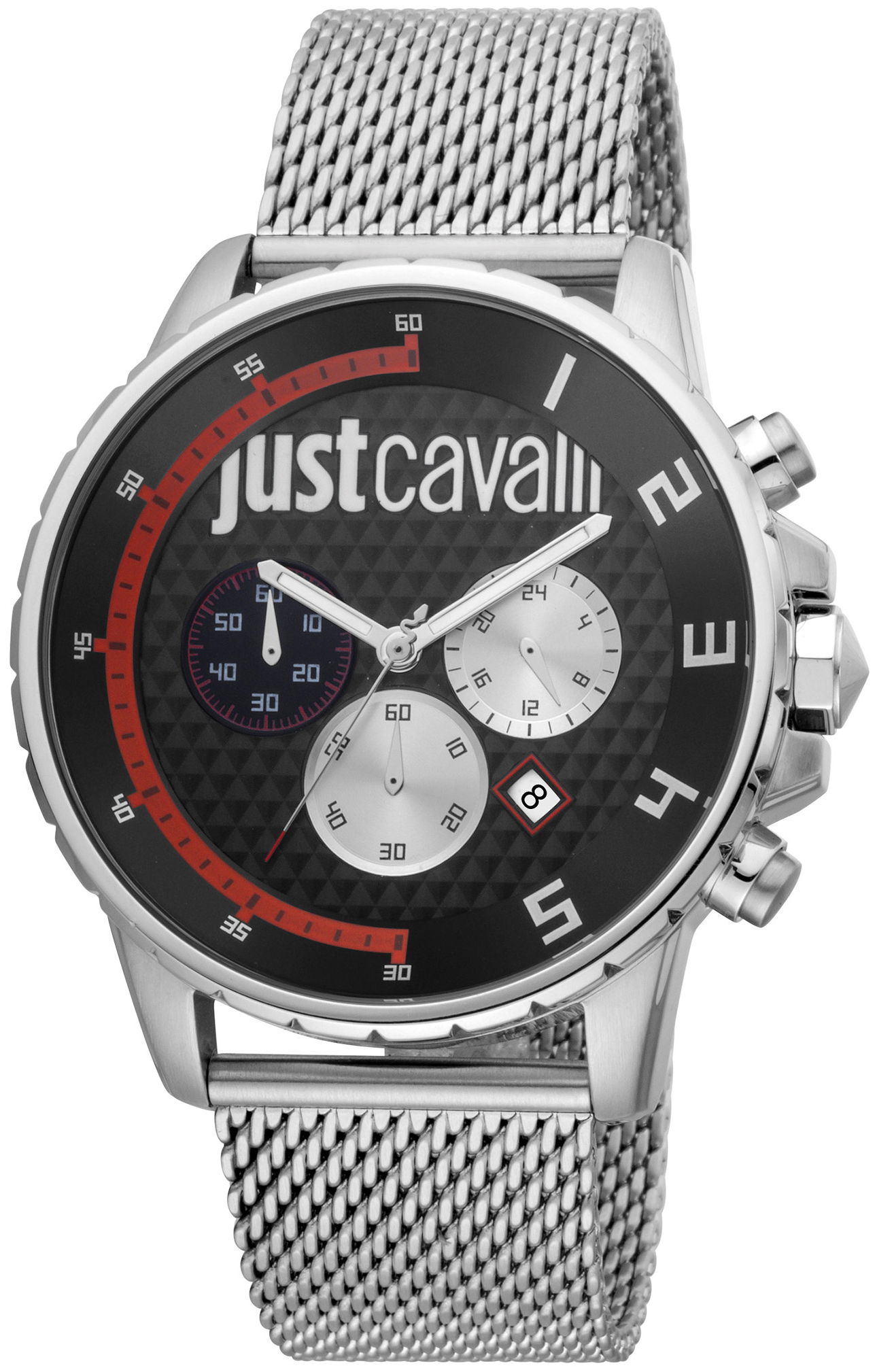Just Cavalli 99999 Herreklokke JC1G063M0265 Sort/Stål Ø44 mm - Just Cavalli