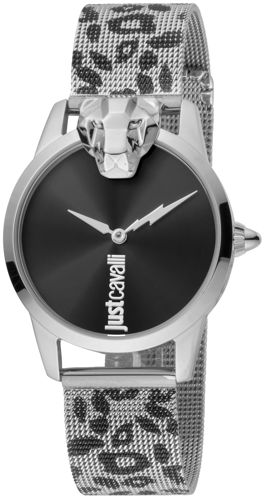 Just Cavalli 99999 Dameklokke JC1L057M0265 Sort/Stål Ø32 mm - Just Cavalli