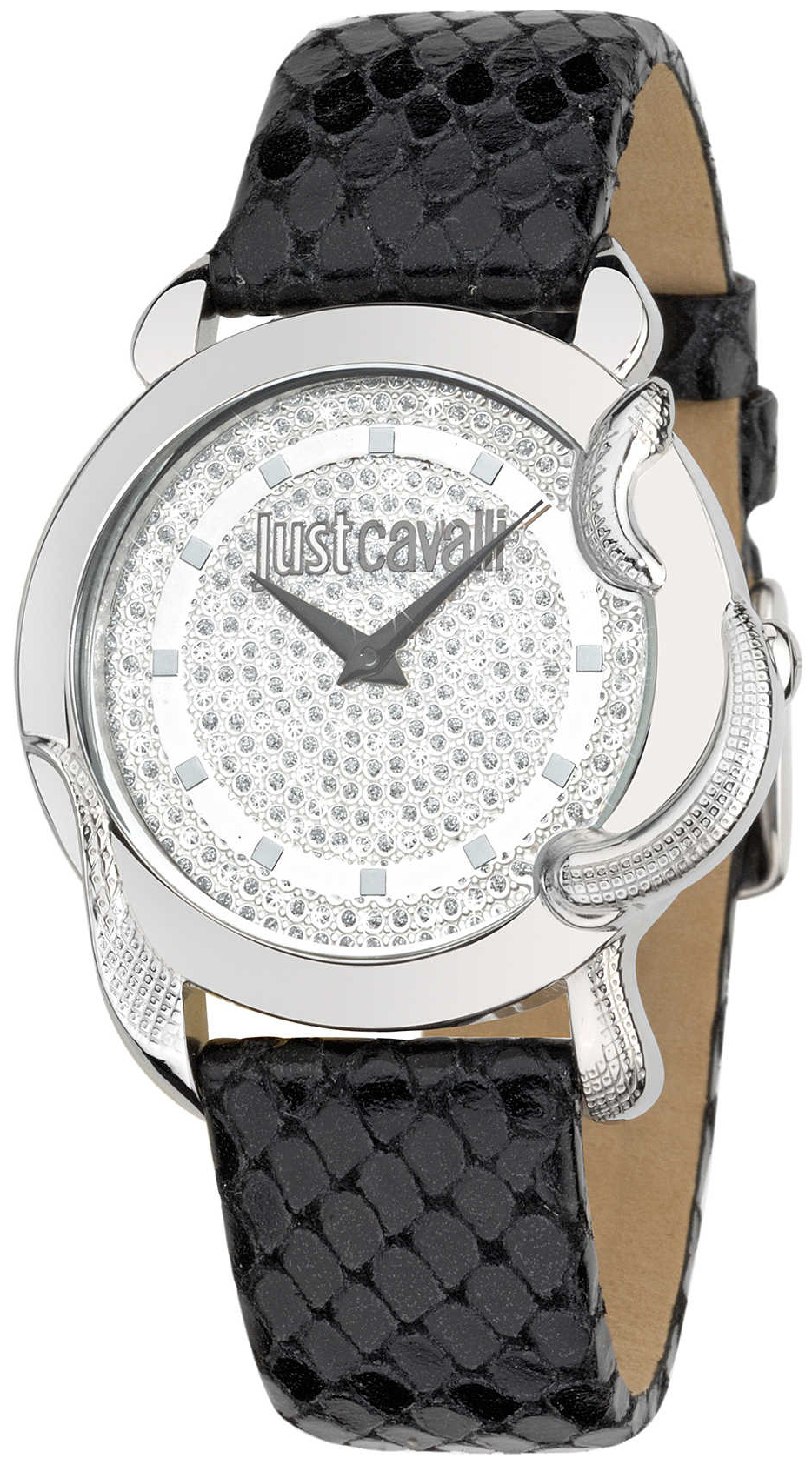 Just Cavalli Eden Dameklokke R7251576502 Hvit/Lær Ø39 mm - Just Cavalli