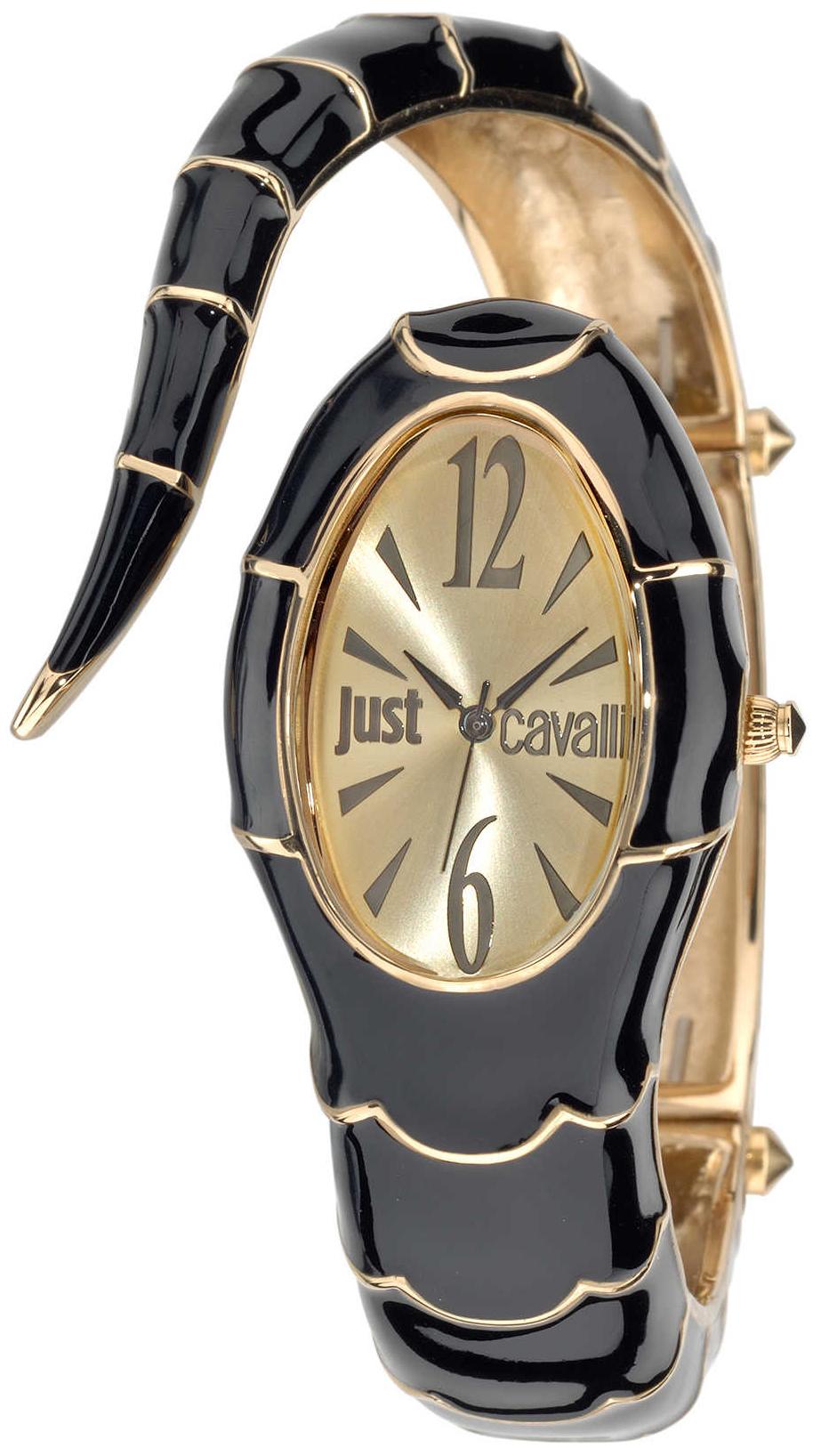 Just Cavalli Poison Dameklokke R7253153508 Gulltonet/Gulltonet stål - Just Cavalli