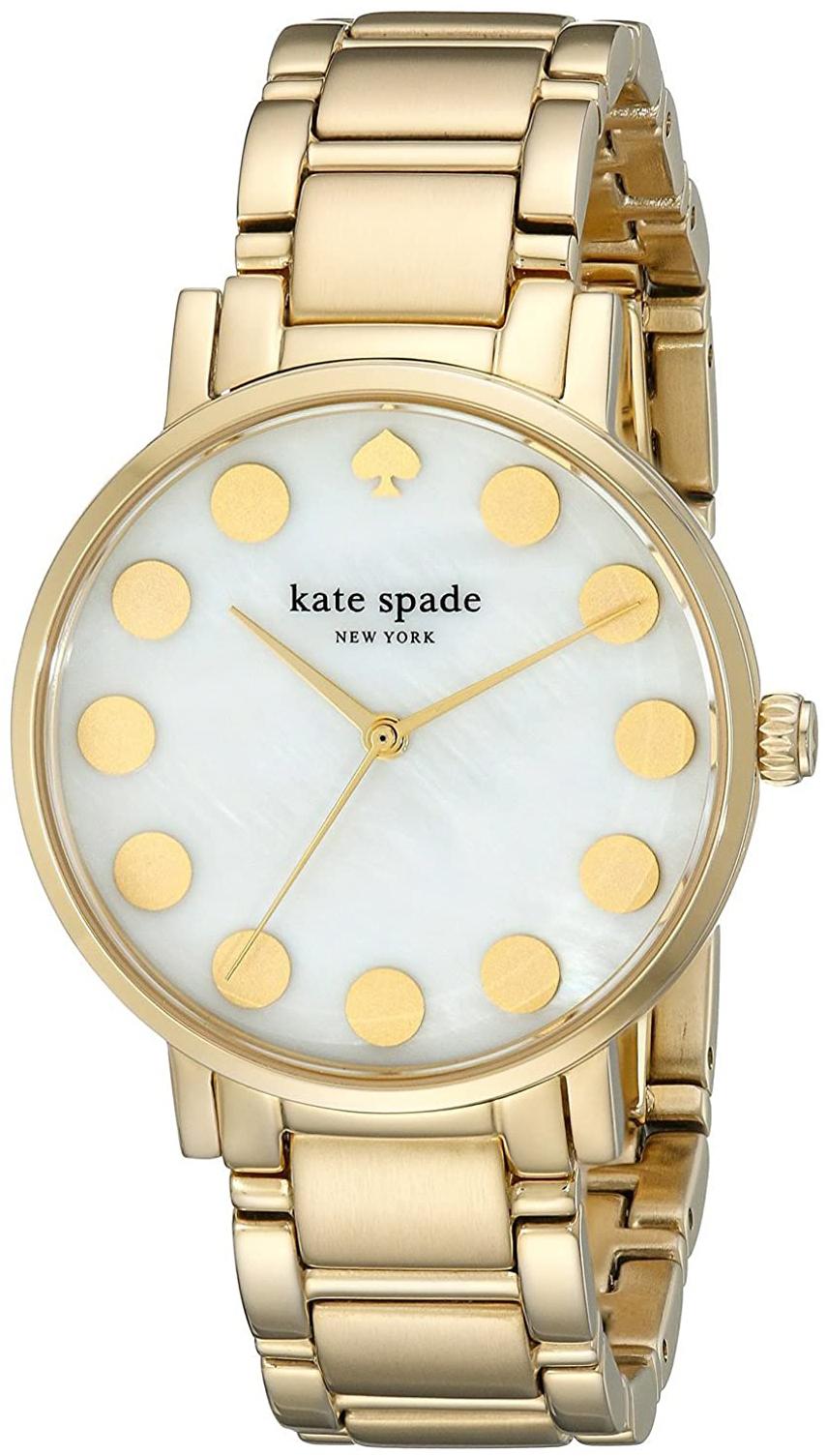Kate Spade Gramercy Dameklokke 1YRU0737 Hvit/Gulltonet stål Ø34 mm - Kate Spade