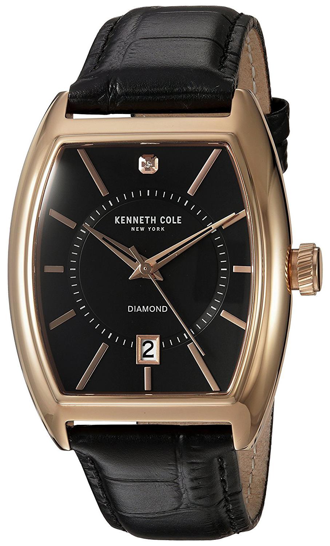 Kenneth Cole Diamond Herreklokke 10030819 Sort/Lær - Kenneth Cole
