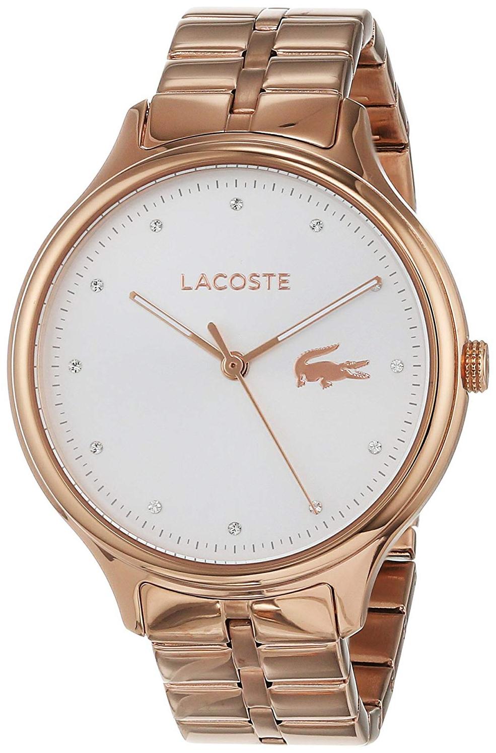Lacoste 99999 Dameklokke 2001032 Hvit/Rose-gulltonet stål Ø38 mm - Lacoste