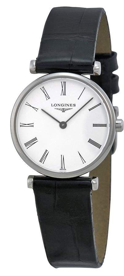 Longines Grande Classique Dameklokke L4.209.4.11.2 Hvit/Lær Ø24 mm - Longines