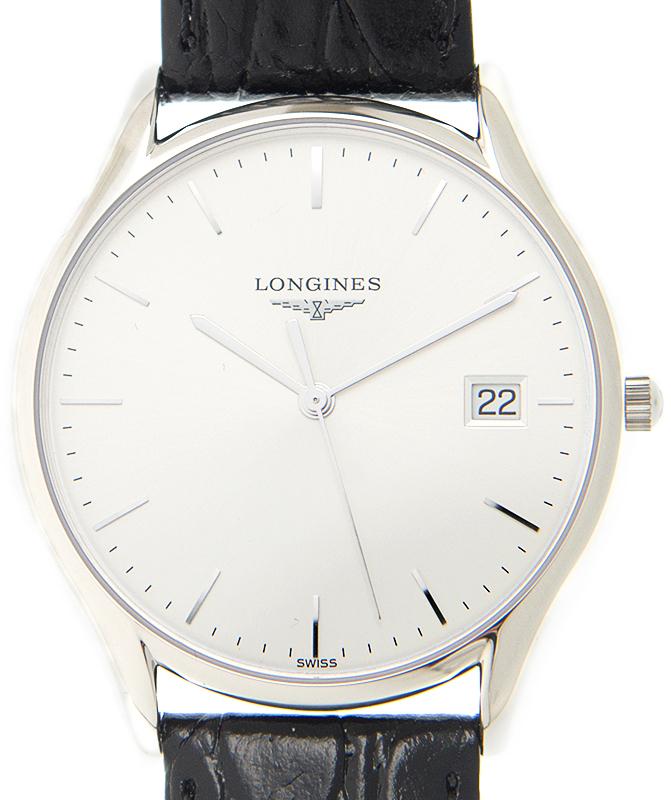 Longines Lyre Herreklokke L4.759.4.72.2 Sølvfarget/Lær Ø35 mm - Longines
