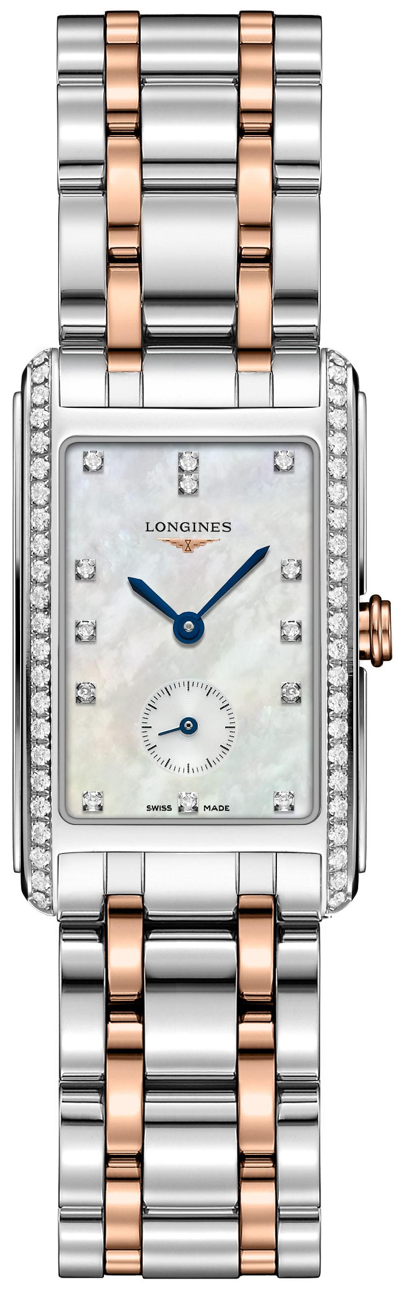 Longines Dolcevita Dameklokke L5.512.5.89.7 Hvit/18 karat rosé gull - Longines