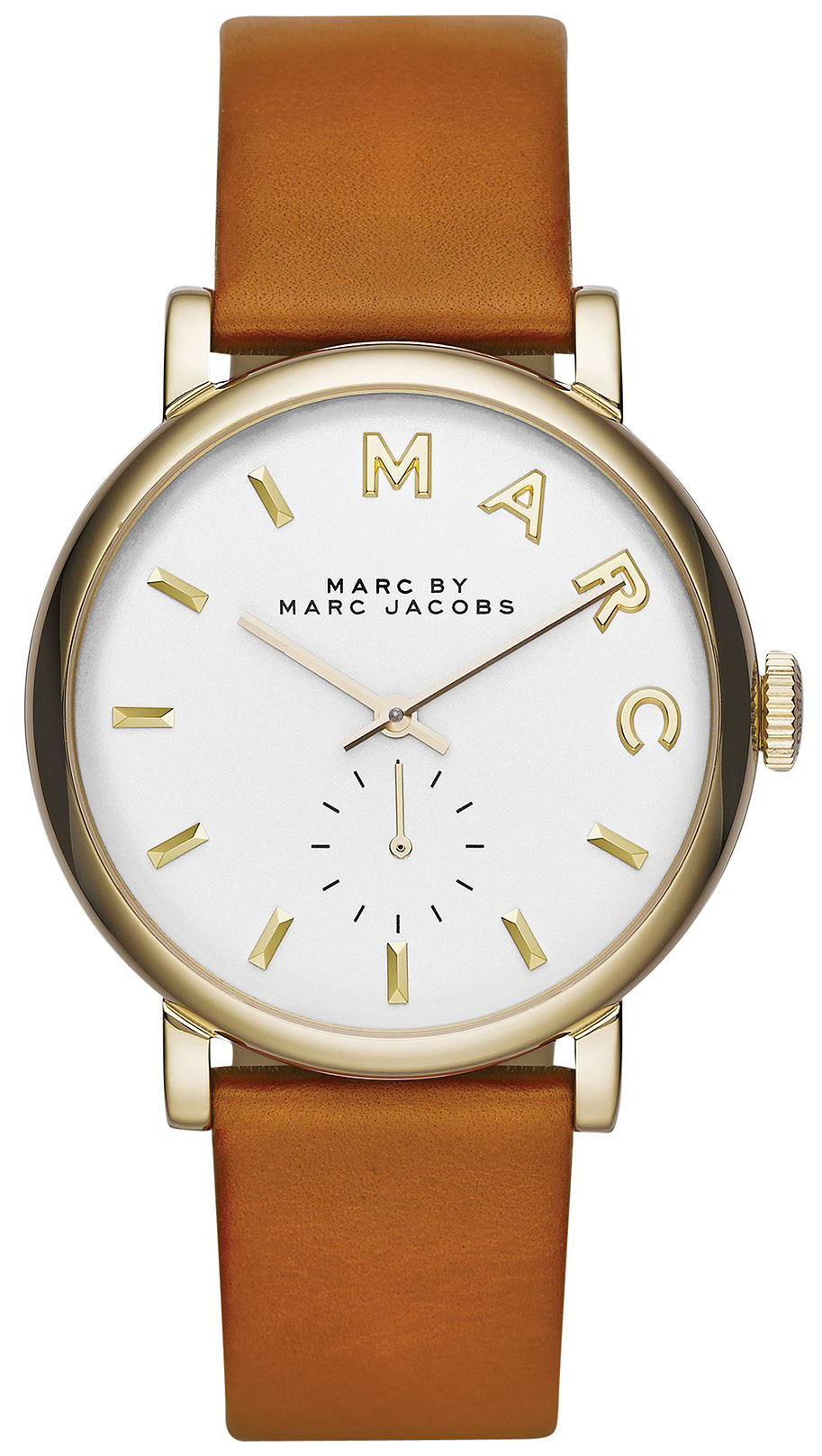 Marc by Marc Jacobs 99999 Dameklokke MBM1316 Hvit/Lær Ø36 mm - Marc by Marc Jacobs