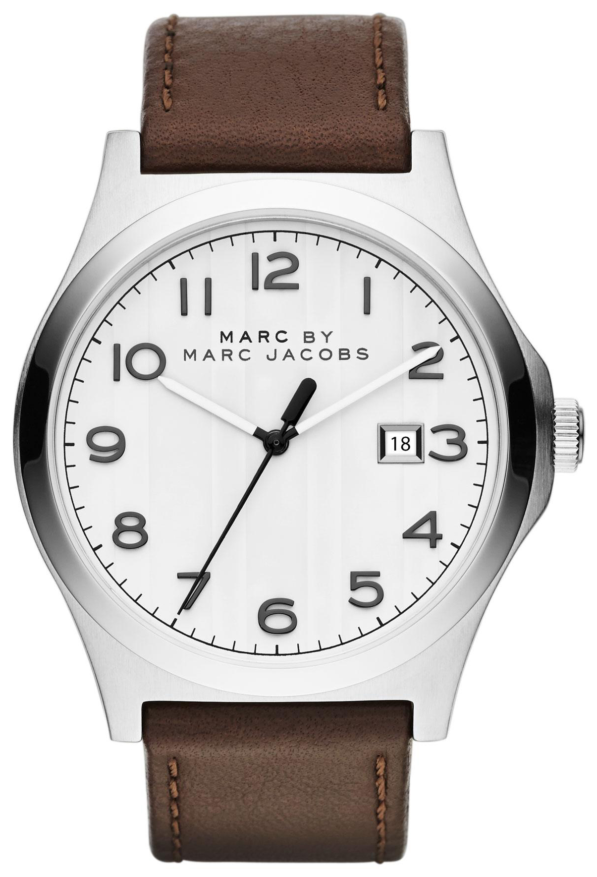 Marc by Marc Jacobs Jimmy Herreklokke MBM5045 Hvit/Lær Ø43 mm - Marc by Marc Jacobs