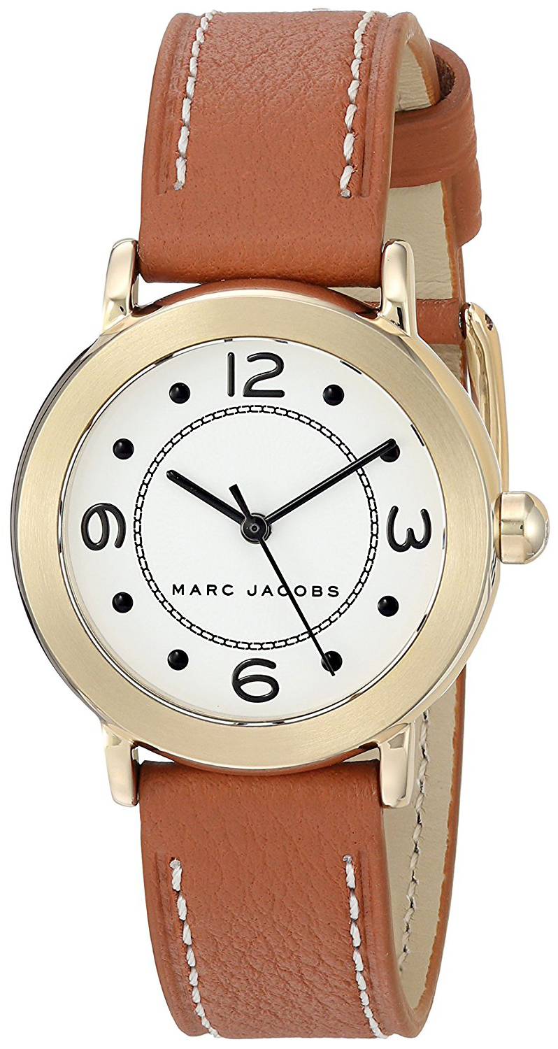 Marc by Marc Jacobs Riley Dameklokke MJ1576 Hvit/Lær Ø28 mm - Marc by Marc Jacobs
