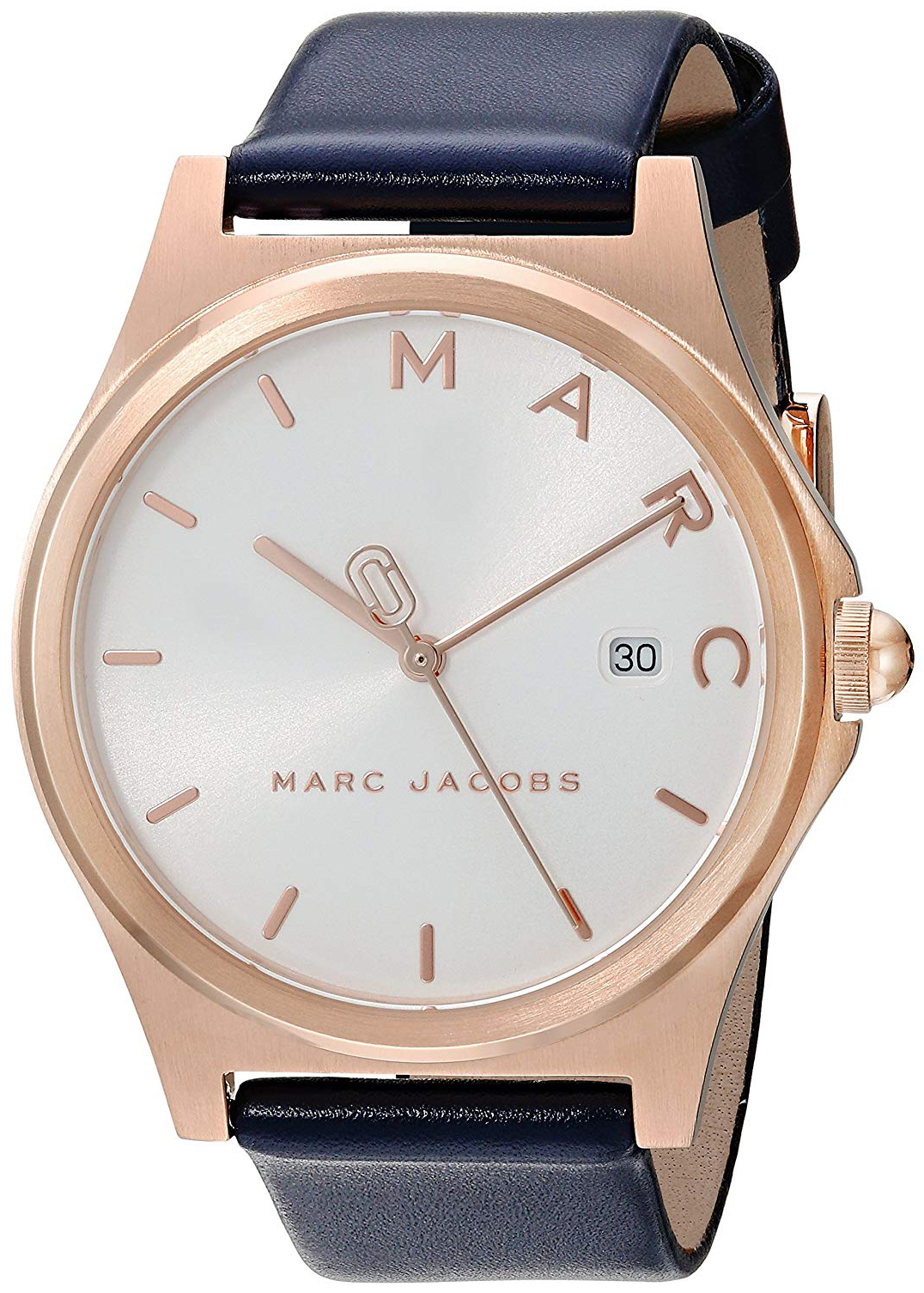 Marc by Marc Jacobs Henry Dameklokke MJ1609 Hvit/Lær Ø36 mm - Marc by Marc Jacobs