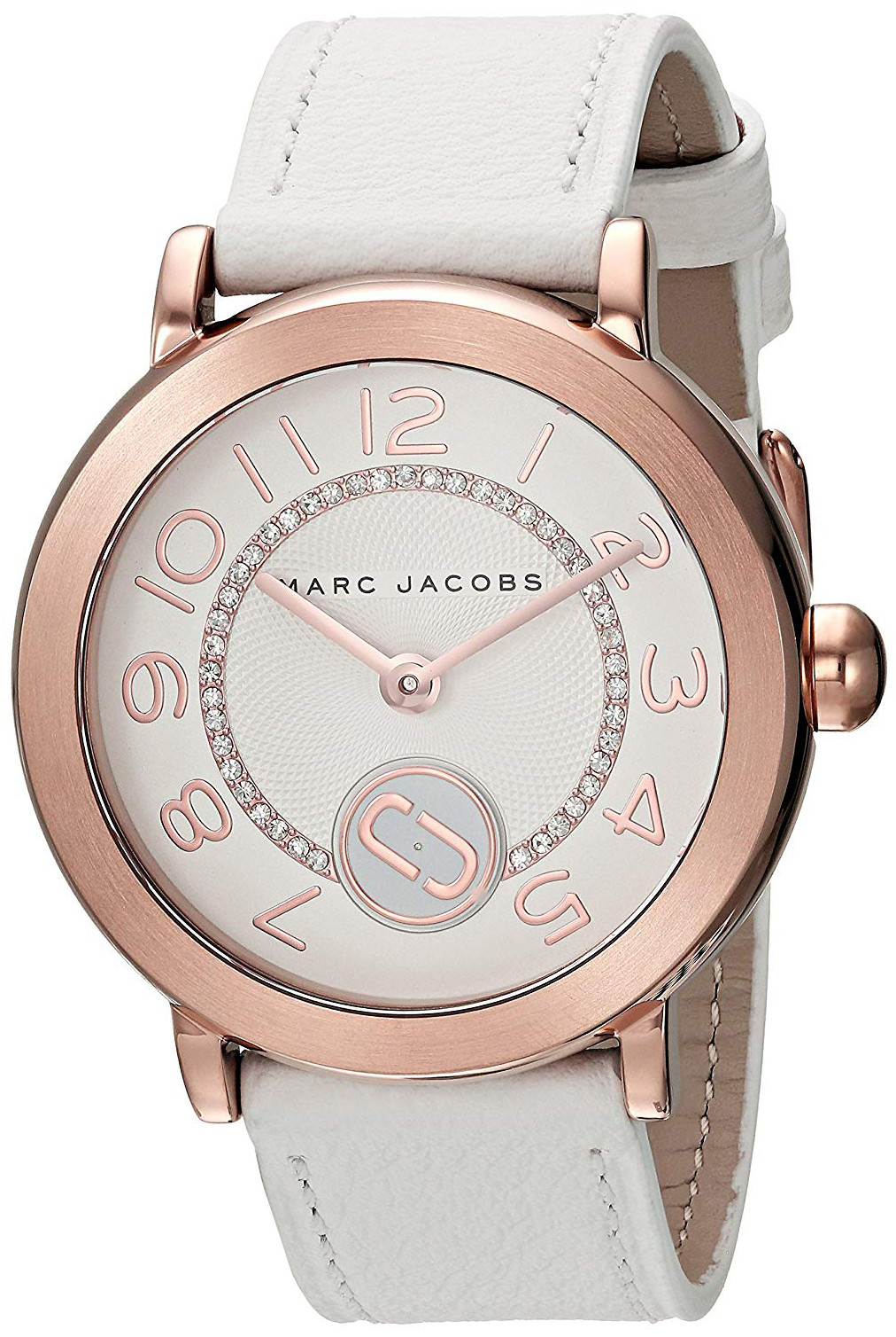 Marc by Marc Jacobs Riley Dameklokke MJ1616 Hvit/Lær Ø36 mm - Marc by Marc Jacobs