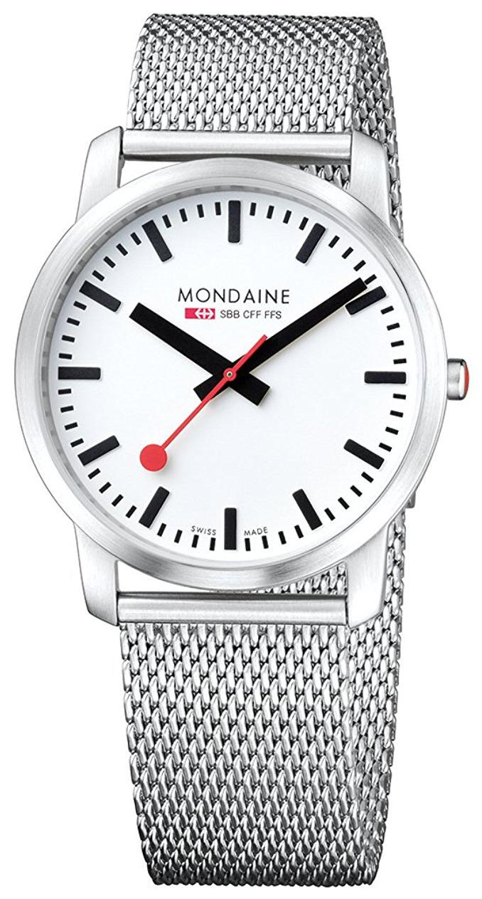 Mondaine Simply Elegant Herreklokke A638.30350.16SBM Hvit/Stål Ø41 - Mondaine