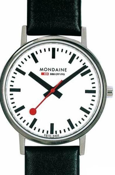 Mondaine 99999 Herreklokke A660.30314.11SBB Hvit/Lær Ø36 mm - Mondaine