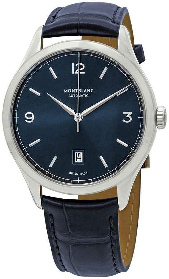 Montblanc Heritage Herreklokke 116481 Blå/Lær Ø40 mm - Montblanc