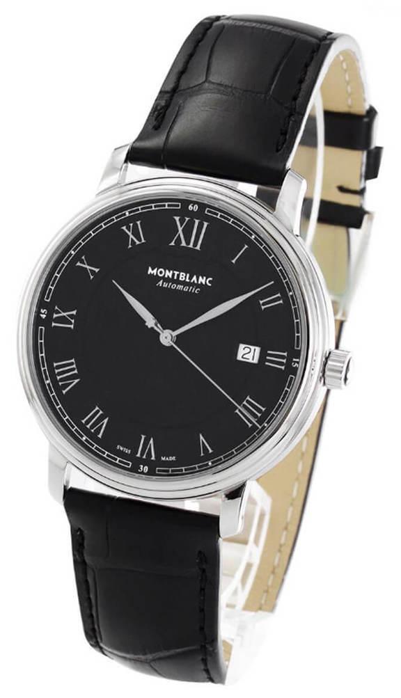 Montblanc Tradition Herreklokke 116482 Sort/Lær Ø40 mm - Montblanc