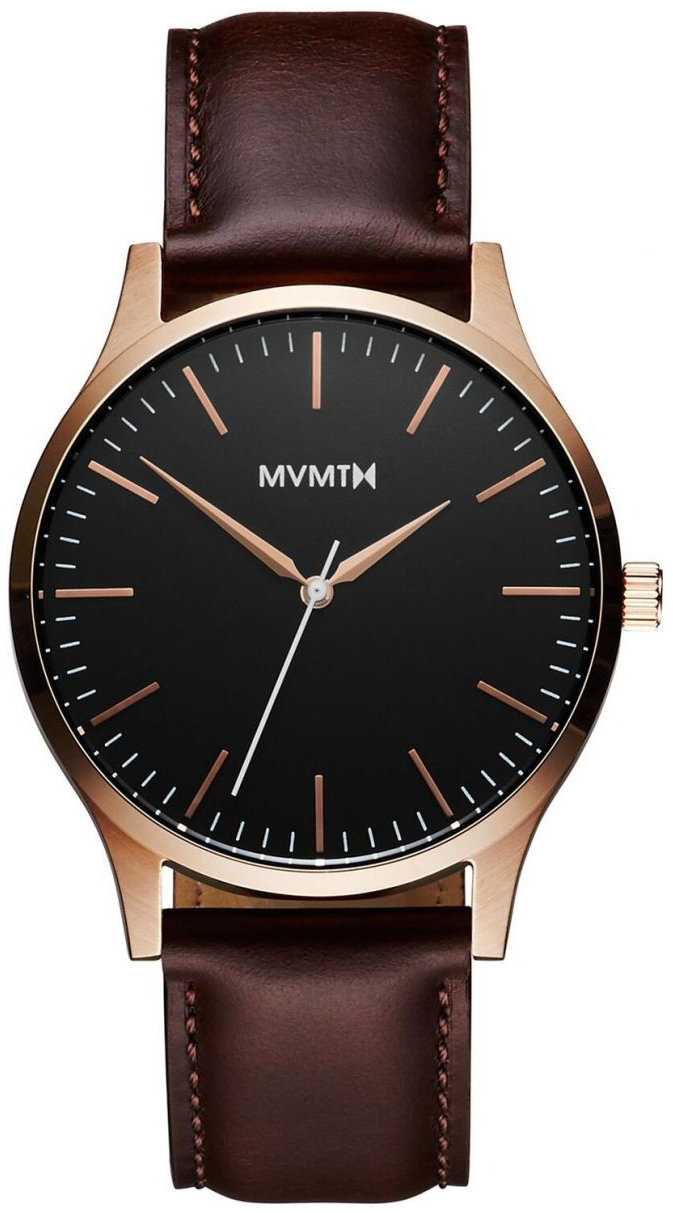 MVMT Series Herreklokke MT01-BLBR Sort/Lær Ø40 mm - MVMT
