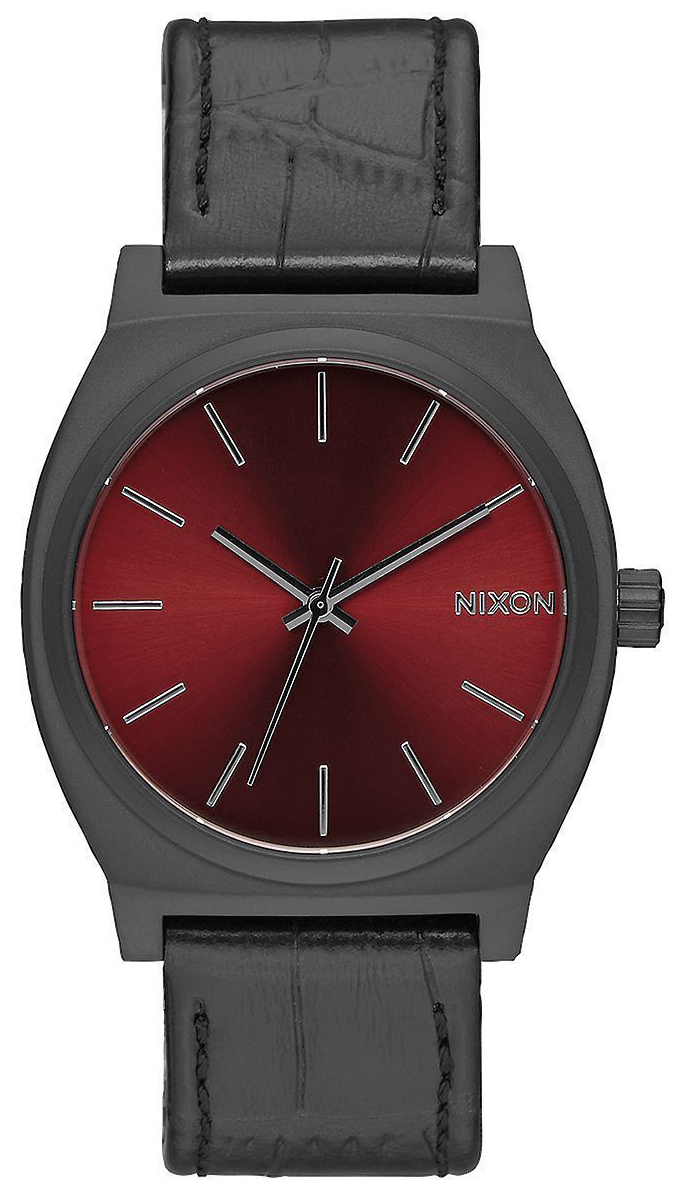 Nixon The Time Teller Herreklokke A0451886-00 Rød/Lær - Nixon