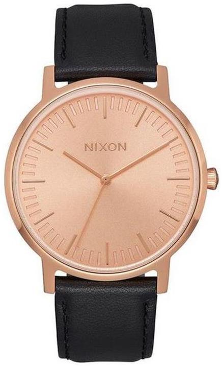 Nixon 99999 Herreklokke A10581932-00 Rosegullfarget/Lær Ø40 mm - Nixon