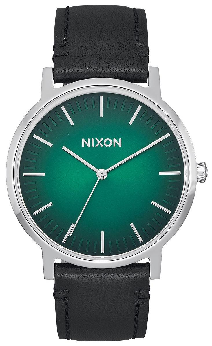 Nixon 99999 Herreklokke A10582696-00 Grønn/Lær Ø40 mm - Nixon