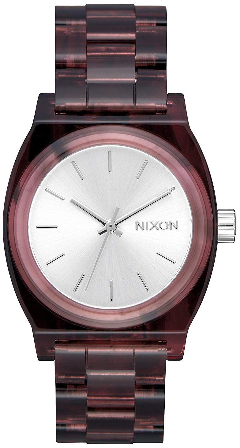 Nixon The Time Teller Dameklokke A1214200-00 Sølvfarget/Resinplast - Nixon