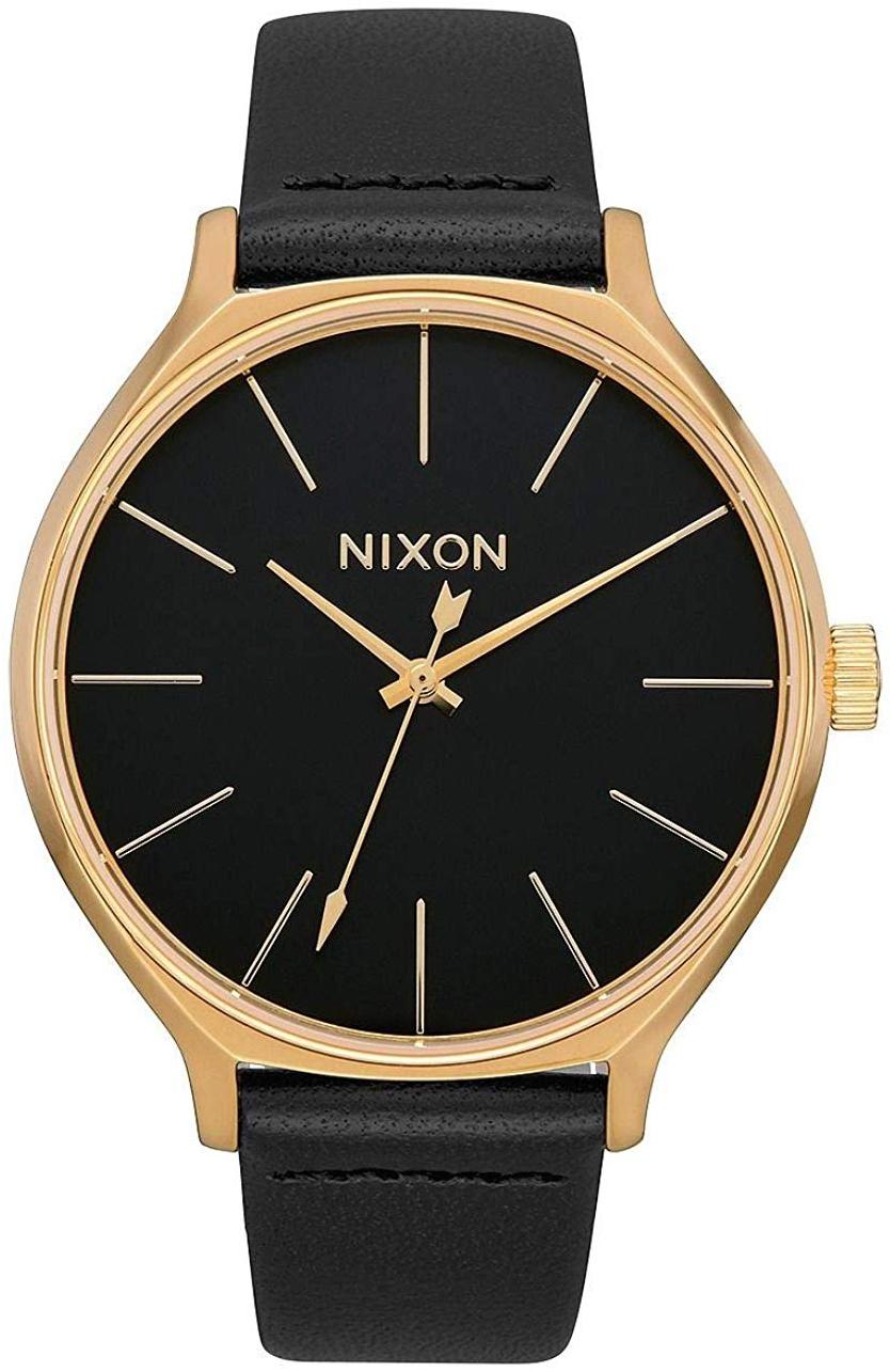 Nixon 99999 Dameklokke A1250513-00 Sort/Lær Ø38 mm - Nixon