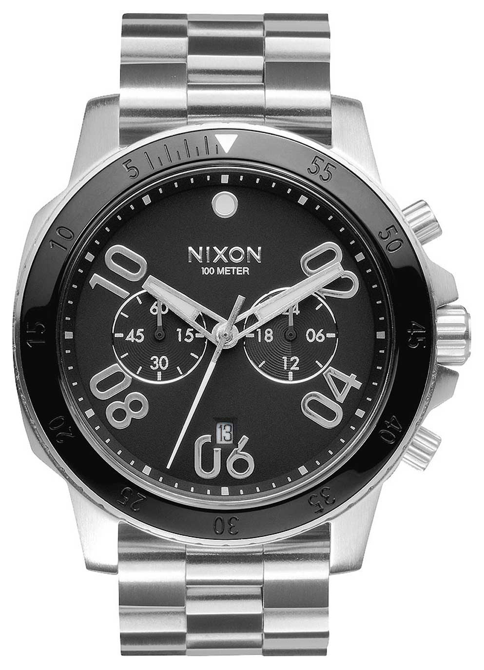 Nixon 99999 Herreklokke A549000-00 Sort/Stål Ø44 mm - Nixon