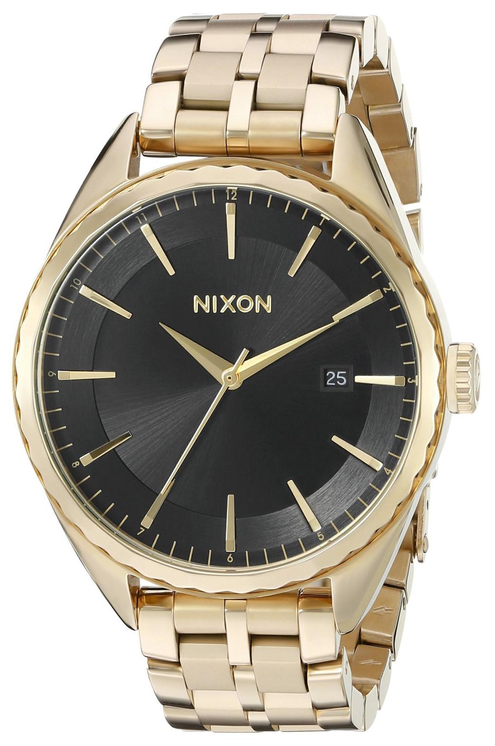 Nixon 99999 Dameklokke A9342042-00 Sort/Gulltonet stål Ø39 mm - Nixon