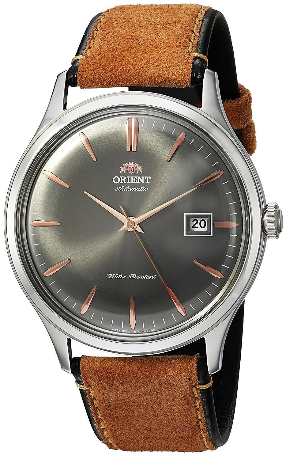 Orient Classic Herreklokke FAC08003A0 Grå/Lær Ø41 mm - Orient