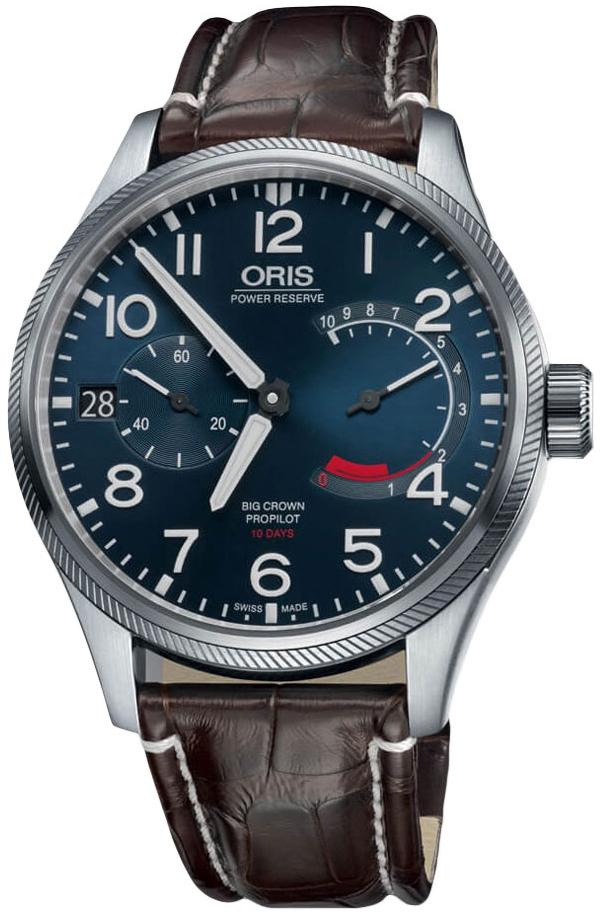 Oris Aviation Herreklokke 01 111 7711 4165-Set 1 22 72FC Blå/Lær - Oris
