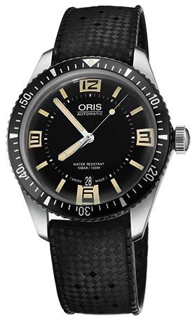 Oris Diving Herreklokke 01 733 7707 4064-07 4 20 18 Sort/Gummi Ø40 mm - Oris
