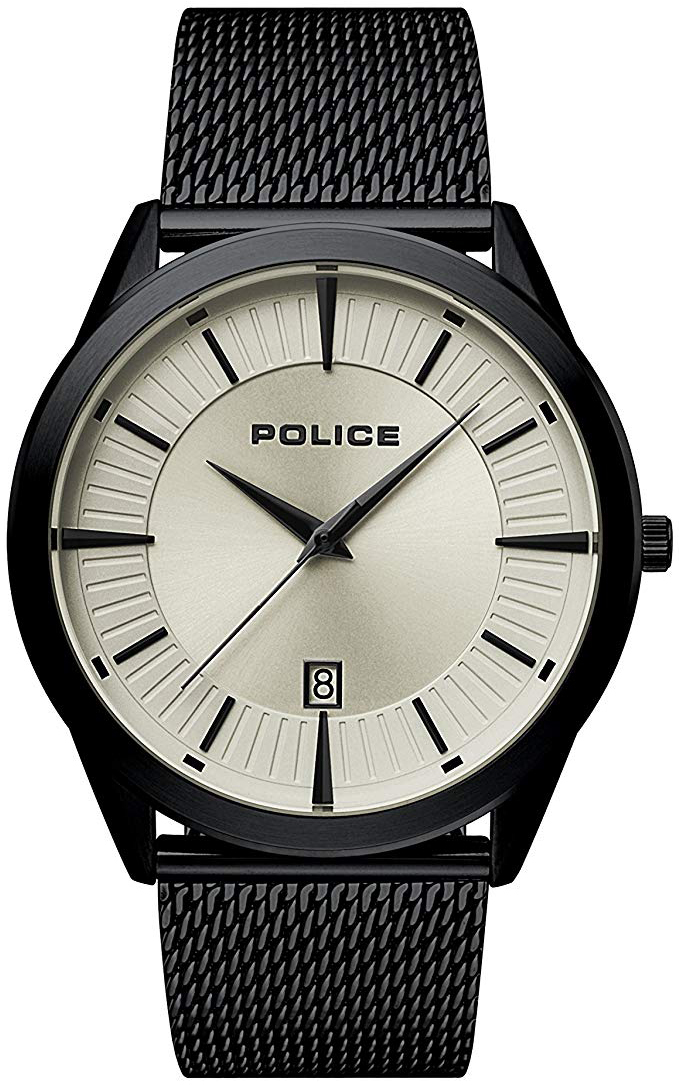 Police Patriot Herreklokke PL15305JSB/79MM Sølvfarget/Stål Ø44 mm - Police