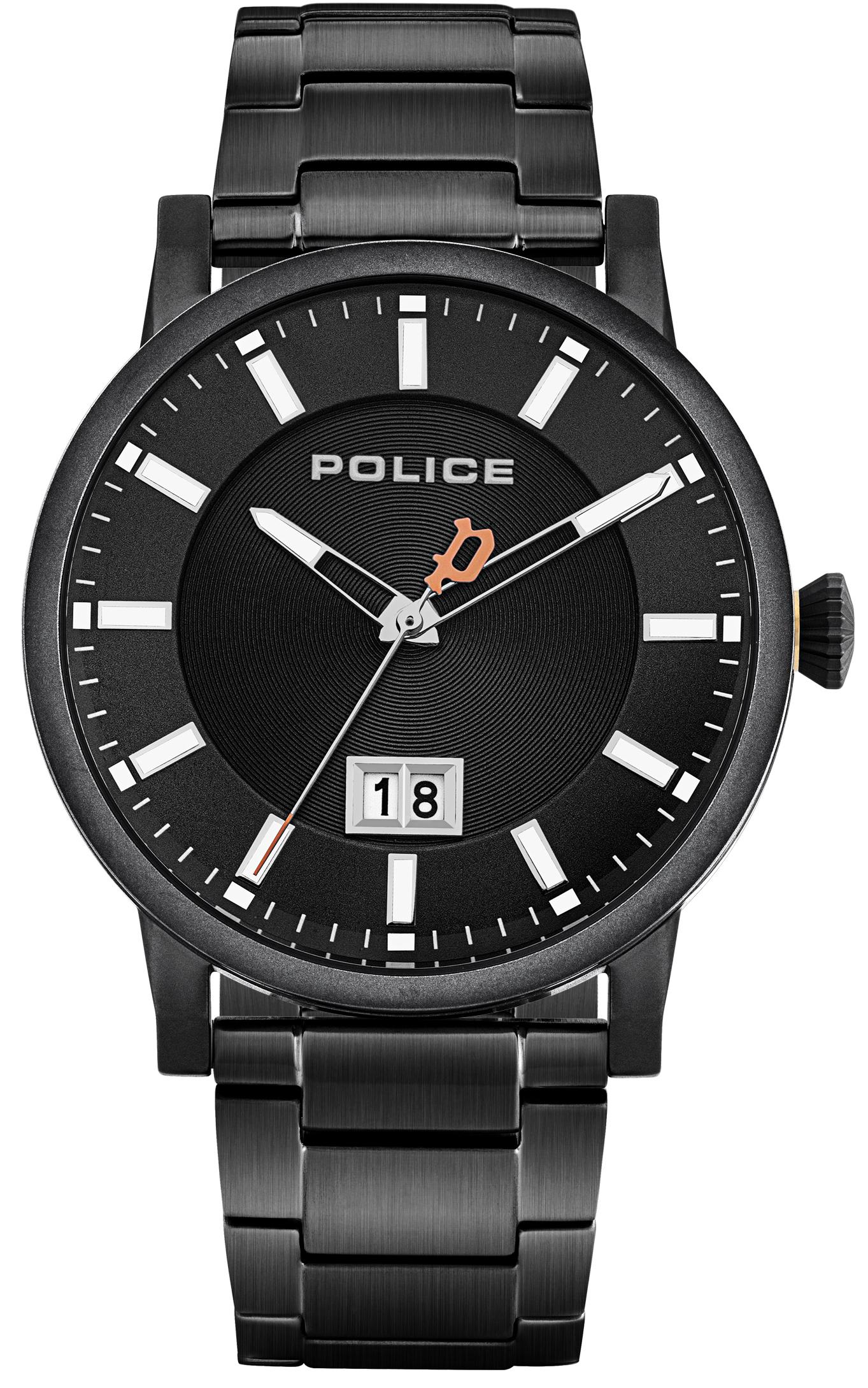 Police 99999 Herreklokke PL15404JSB/02M Sort/Stål Ø42.5 mm - Police