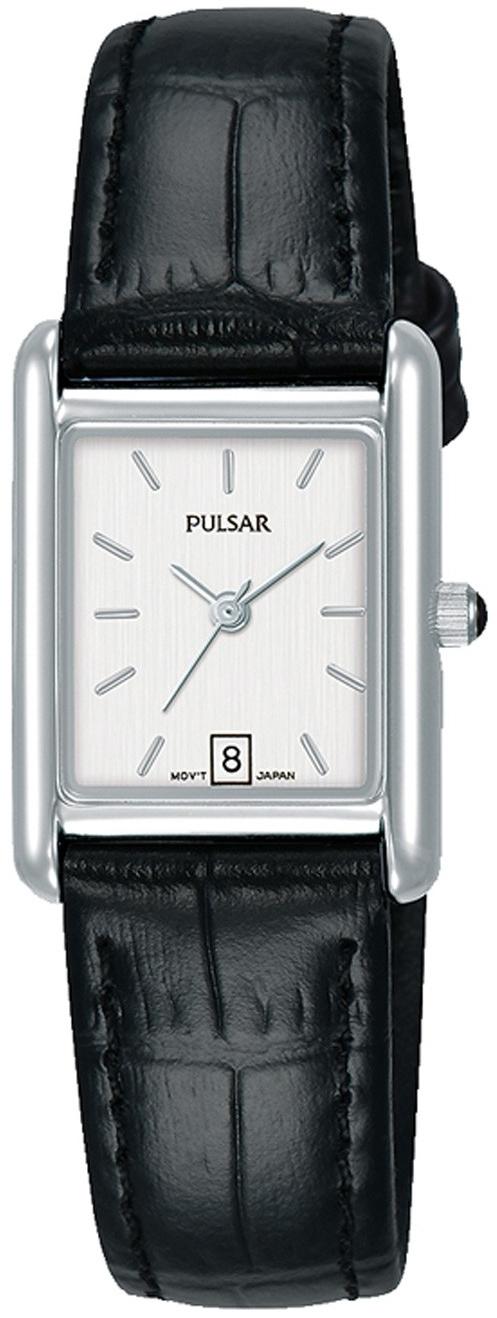 Pulsar Classic Dameklokke PH7483X1 Sølvfarget/Lær - Pulsar