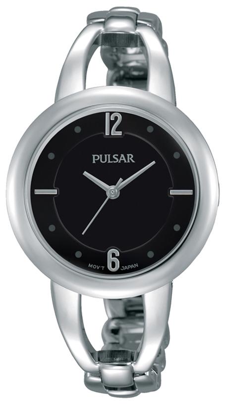 Pulsar Dress Dameklokke PH8205X1 Sort/Stål Ø33 mm - Pulsar