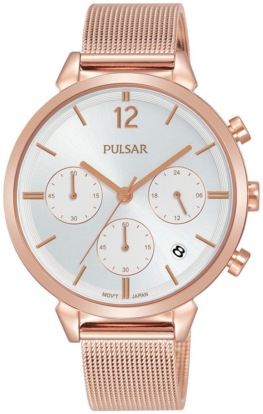 Pulsar 99999 Dameklokke PT3944X1 Sølvfarget/Rose-gulltonet stål - Pulsar