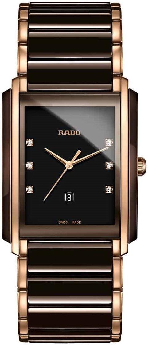 Rado Integral Dameklokke R20219722 Sort/Rose-gulltonet stål - Rado