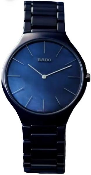 Rado True Herreklokke R27005902 Blå/Keramik Ø39 mm - Rado