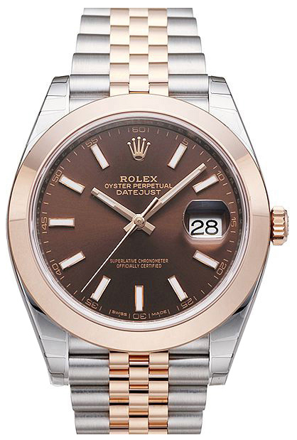 Rolex Datejust 41 Herreklokke 126301-0002 Brun/18 karat rosé gull - Rolex